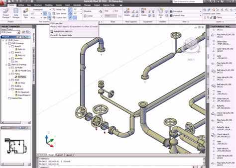 tutorial autocad piping how to piping systems pipie 3d drawing with autocad plant