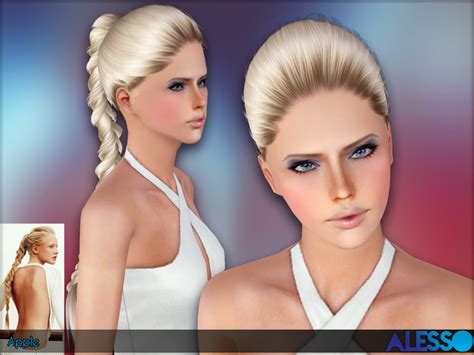 sims 4 female braids huge braid apple hairstyle by alesso sims 3 hairs