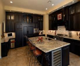 Kitchen Cabinets Styles And Colors Kitchen Traditional Kitchen Espresso Finish Custom