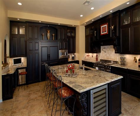 Kitchen Cabinet Styles And Colors Kitchen Traditional Kitchen Espresso Finish Custom Cabinets Traditional Kitchen Kitchen