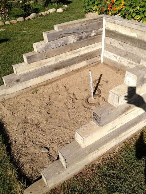 backyard horseshoe pit dimensions 25 best ideas about horse shoe pit on pinterest