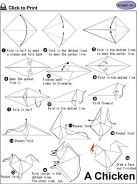 Origami Chicken Easy - origami on origami animals origami and diy