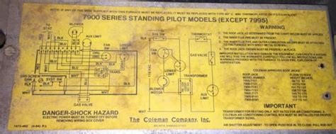 coleman furnace thermostat wiring diagram efcaviation