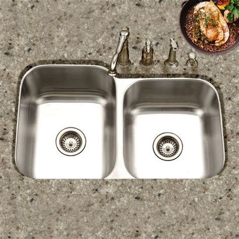 60 40 kitchen sink the medallion series 60 40 undermount bowl