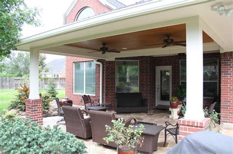 Patios Houston Tx by Patio Cover In Houston Tx With Sted Concrete