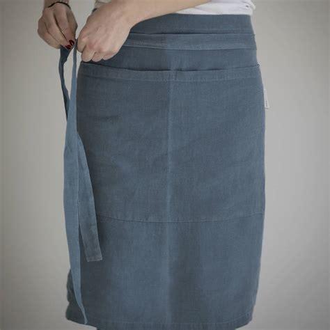 Half Apron linen half apron by the linen works notonthehighstreet