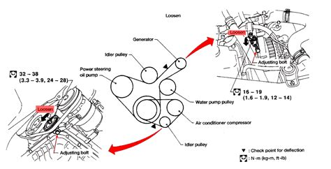 1997 nissan altima engine diagram i need step by step to replace the serpentine