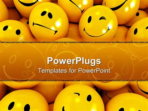 templates powerpoint smile powerpoint template a collection of smileys with place