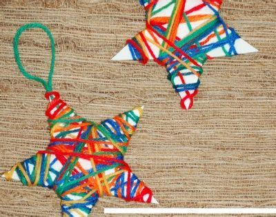 christmas crafts for kids yarn wrapped ornaments yarns