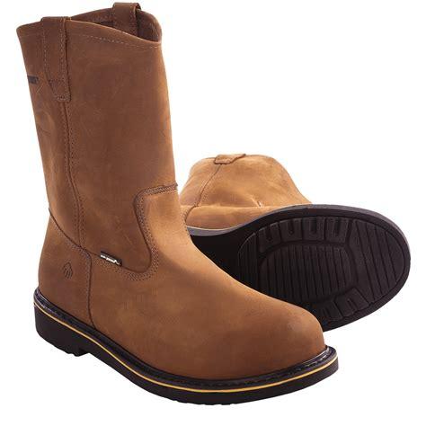wolverine steel toe work boots for wolverine foster durashocks wellington 8 5 m steel toe