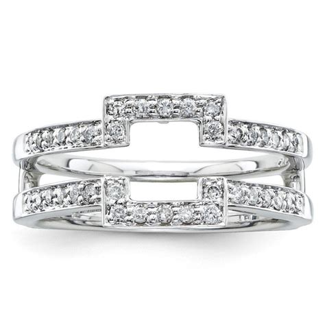 14k white gold ring guard qgy9846waa