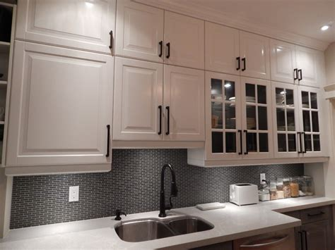 white wall kitchen cabinets ikea kitchens lidingo gray and white with stacked wall