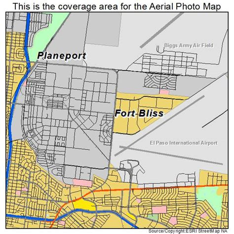 fort texas location map aerial photography map of fort bliss tx texas