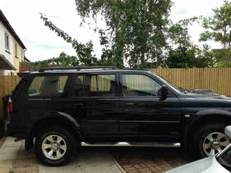 mitsubishi black cars mitsubishi 2006 shogun sport trojan black car for sale