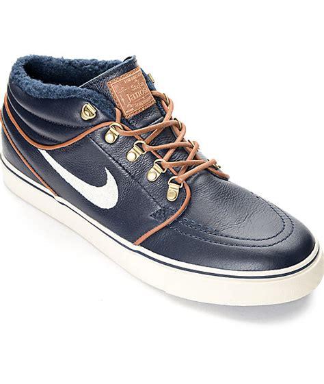 Sepatu Nike Janosky Sb Premium nike sb stefan janoski mid premium obsidian skate shoes zumiez