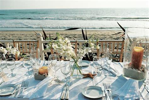 seaside wedding in california with themed d 233 cor inside weddings