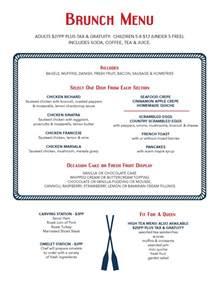 menu for brunch the oar seafood grille catering package brunch menu