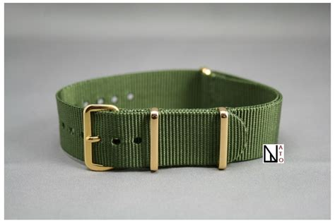Gold Nato Large gold nato army green resistant