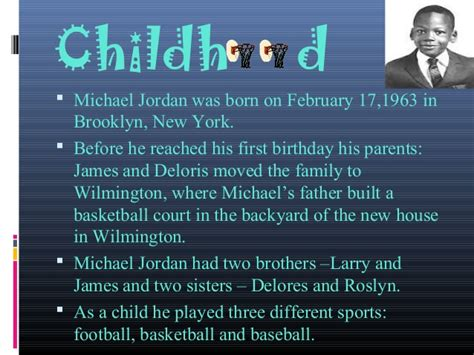 michael jordan information biography michael jordan biography ultimate ppt