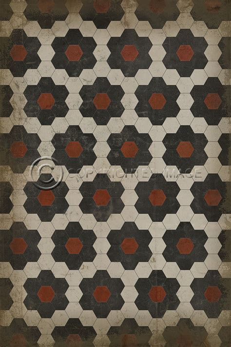hexagon pattern vinyl vintage vinyl floral hexagon floorcloth sturbridge