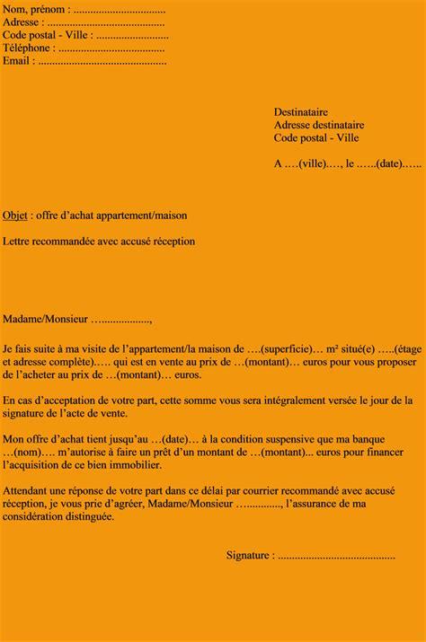 Exemple De Lettre Vente Maison Locataire 7 Proposition D Achat Mod 232 Le Lettre Administrative