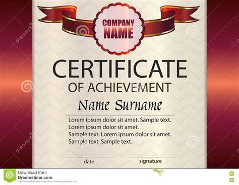 reward certificate templates vector certificate of achievement template award winner