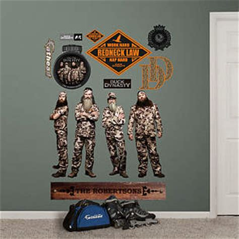 duck dynasty home decor life size duck dynasty collection wall decal shop fathead 174 for duck dynasty decor