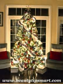 how to decorate a tree professionally with ribbon