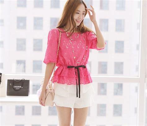Atasan Pink Wanita Soft Silk Shirt Murah Import Lookbook atasan wanita brokat warna pink model terbaru jual murah import kerja