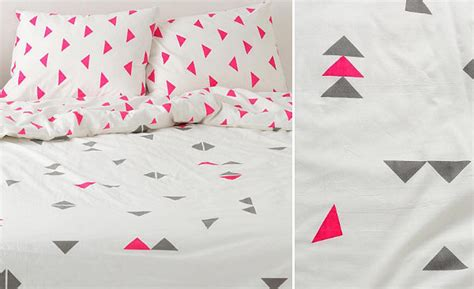 triangle pattern duvet geometric design inspiration for your next accent wall or