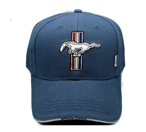 ford mustang tribar logo hat in blue the mustang trailer