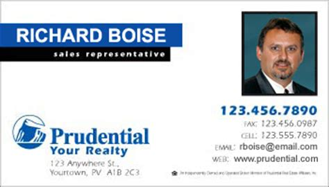 Credit Card Form Prudential Business Card Style Prudential Template 1012