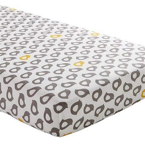 Crib Mattress Fitted Sheet Yellow And Grey Crib Fitted Sheet The Land Of Nod