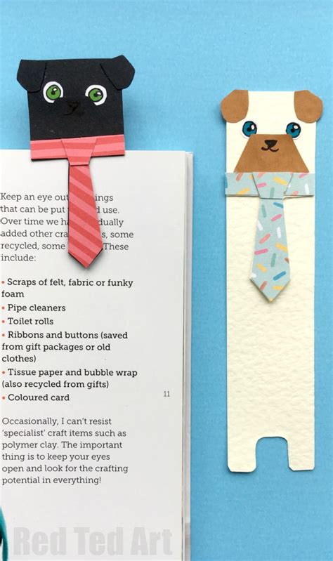 Free Pug Card Template by Hug A Book Bookmark Diy Ted S