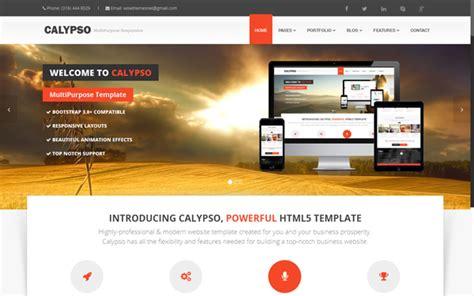 bootstrap themes free animated calypso multipurpose theme wrapbootstrap