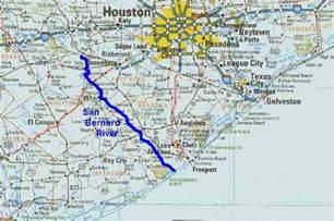 san bernard river map tpwd