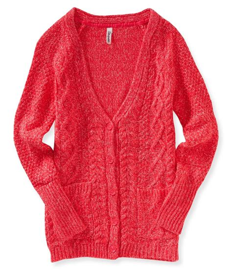 knit cardigan sweater aeropostale womens cable knit button up cardigan sweater