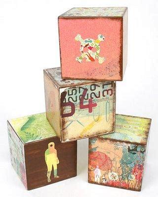 Handmade Baby Blocks - diy eco friendly summer toys