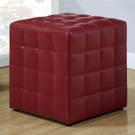 red cube ottoman rammstein cube ottoman square tufts red dcg stores