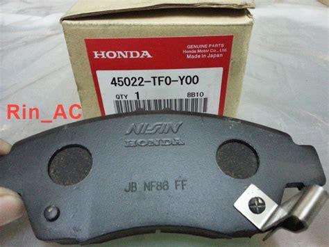 Kanvas Rem Mobil Honda Jazz Jual Kas Rem Brake Pad Depan Honda Jazz Rs 09 13