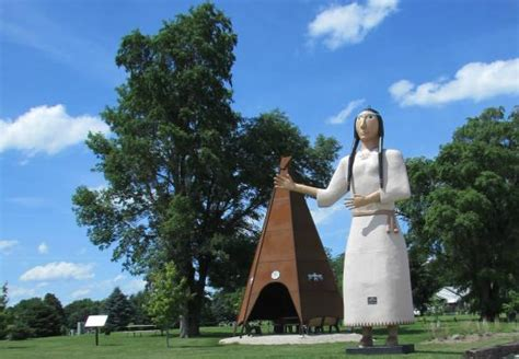 haircuts and more on highway 4 pocahontas iowa the indian princess statue pocahontas all you need to