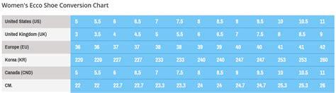 shoe size chart zappos ecco shape 65 block sandal at zappos com