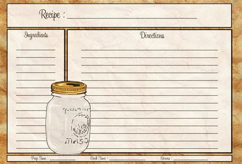 vintage recipe cards free vector graphic art free download found