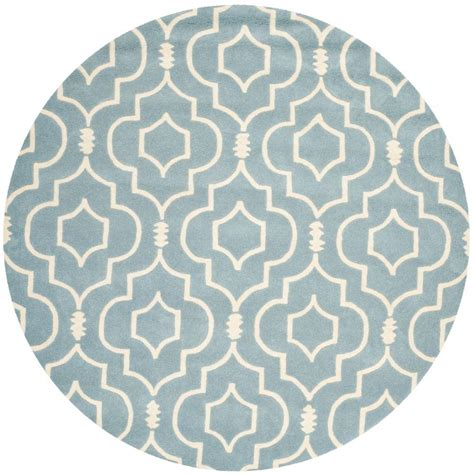 Circular Area Rugs Safavieh Chatham Blue Ivory 7 Ft X 7 Ft Area Rug Cht736b 7r The Home Depot