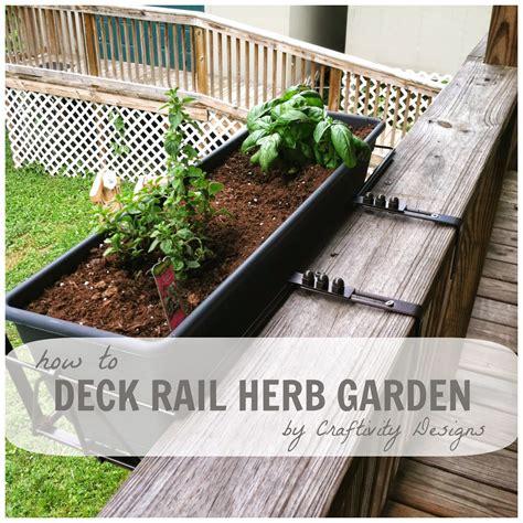 Deck Herb Garden Planter by Small Space Gardening 20 Great Ideas Proverbial Homemaker
