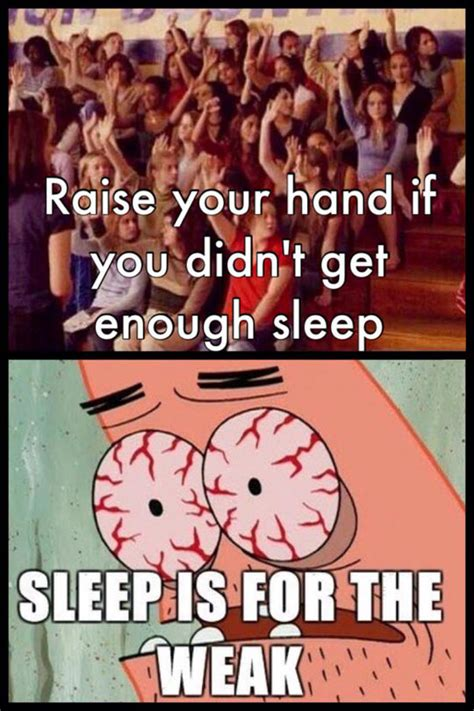 Sleep Is For The Weak Meme - what studying does to your sleeping schedule the meta