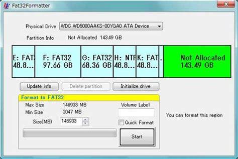 only format exfat not fat32 formater un disque de plus de 32 go en fat32