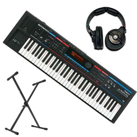 Keyboard Roland Di roland juno di syntetisaattori teline ja krk 6400 kuulokkeet osoitteessa gear4music