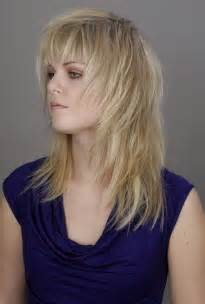 frisur lange haare kantiges gesicht gestufte frisuren mittellang