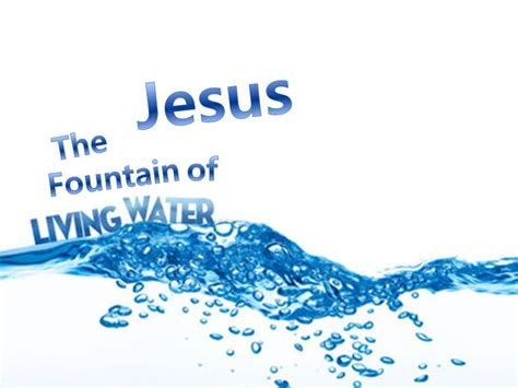 jesus is the living water woman at the well john 7 living water